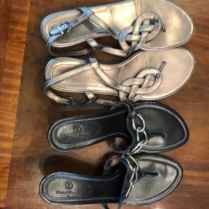Two pairs Cole Haan Sandals